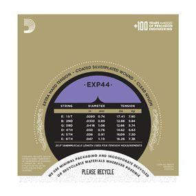 Encordoamento D'addario para Violão Nylon EXP44 COATED SILVER WOUND - EXTRA-HARD