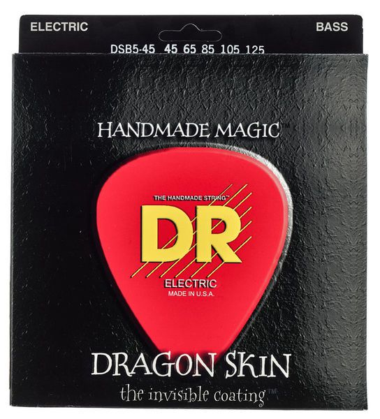 Encordoamento p/Baixo DR STRINGS 4C Dragon Skin Clear Coated Bass 45/105 DSB-45