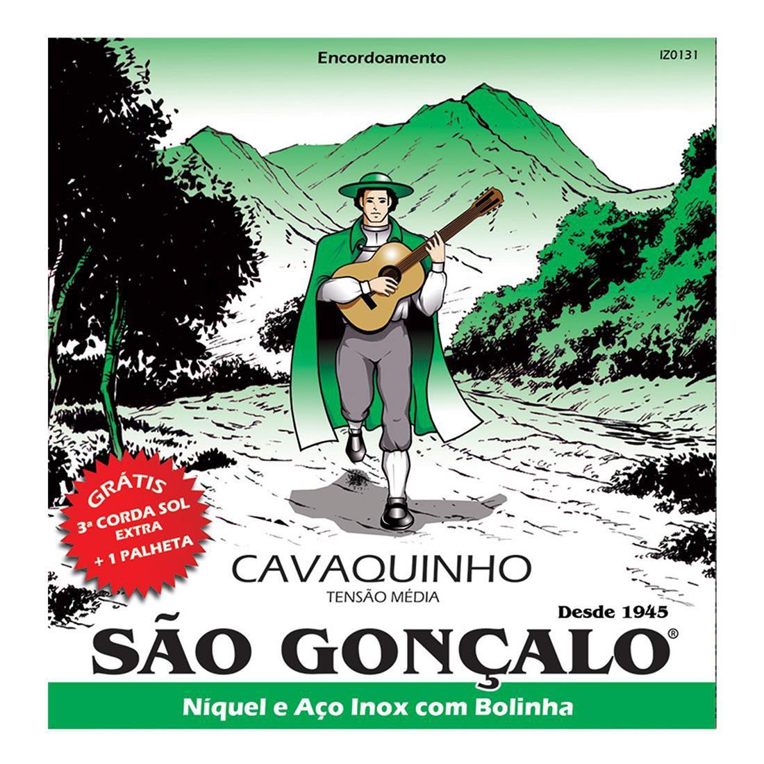 Encordoamento p/ Cavaco Sao Gonçalo Niquel c/ Bolinha