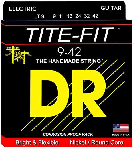 Encordoamento p/Guitarra DR STRINGS Tite-Fit Nickel Plated Electric 9/42 LT-9