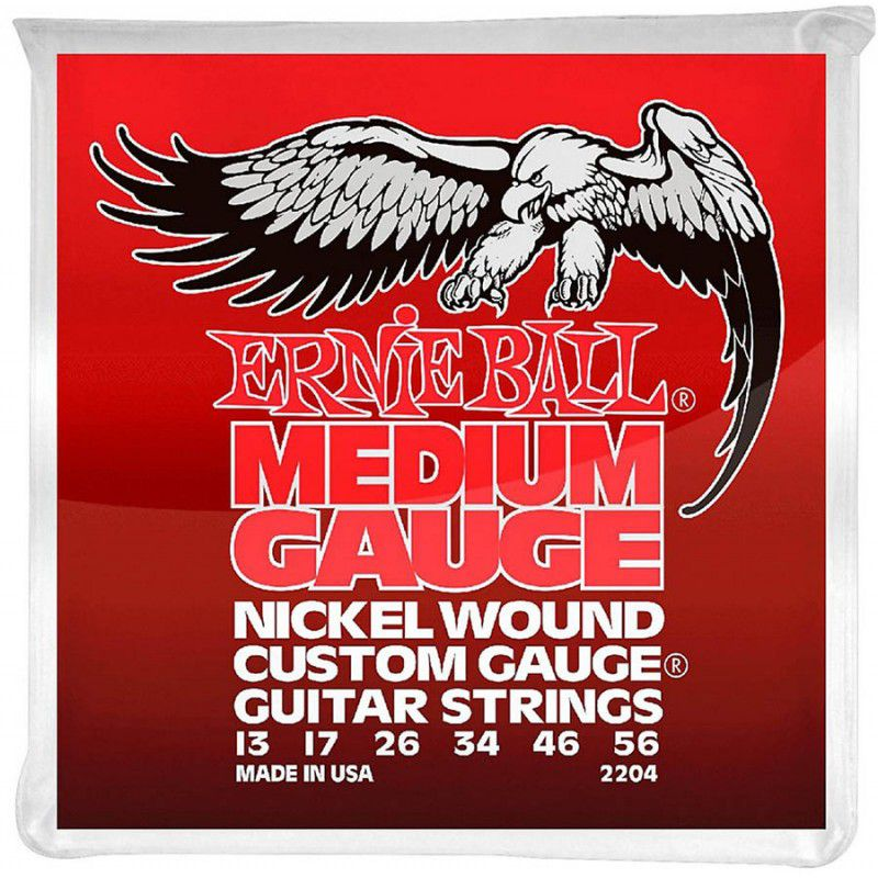 Encordoamento p/Guitarra Ernie Ball Medium Gauge 013-056 - P02204