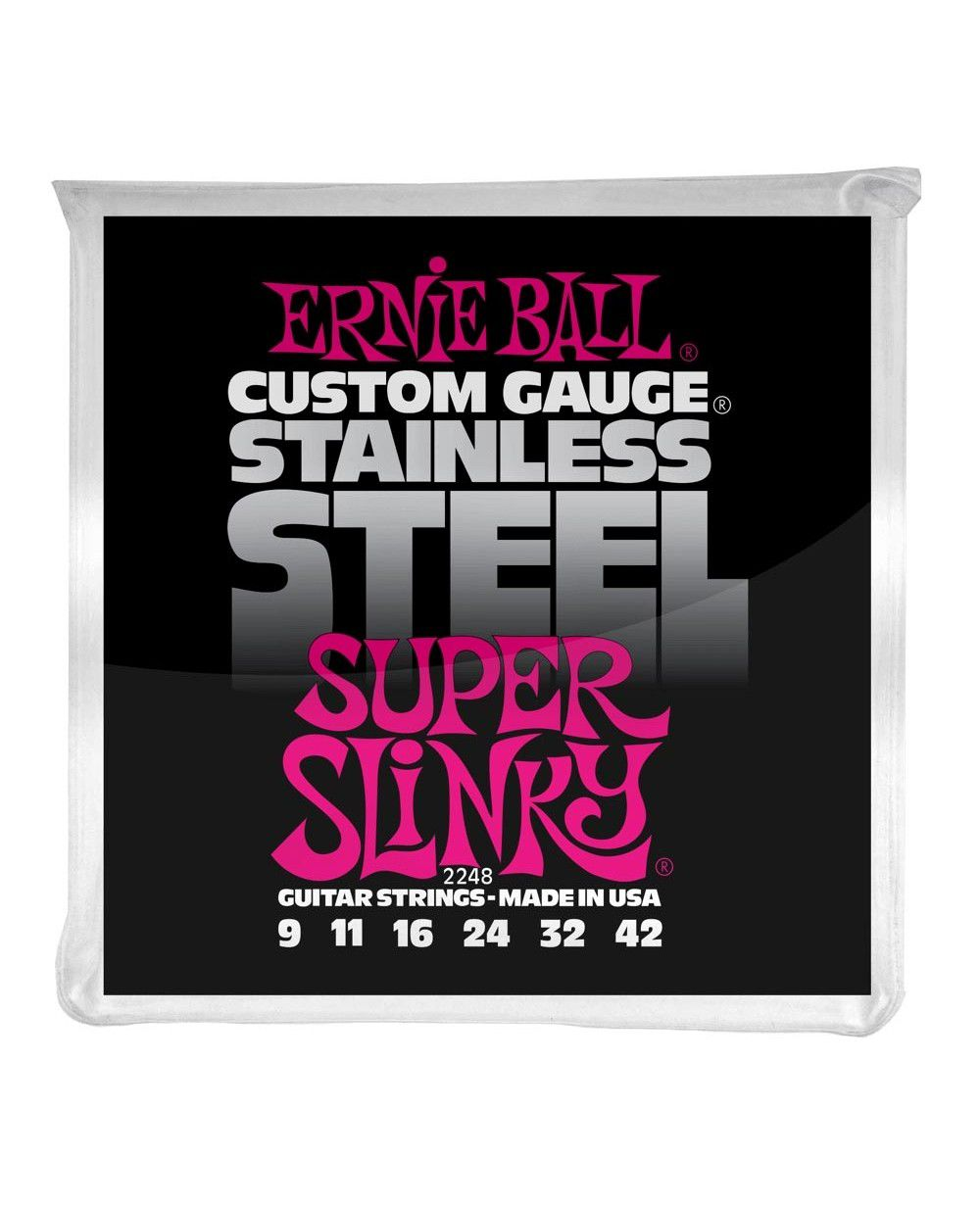 Encordoamento p/Guitarra Ernie Ball Regular Slinky Stainless Steel 09-042 - P02248