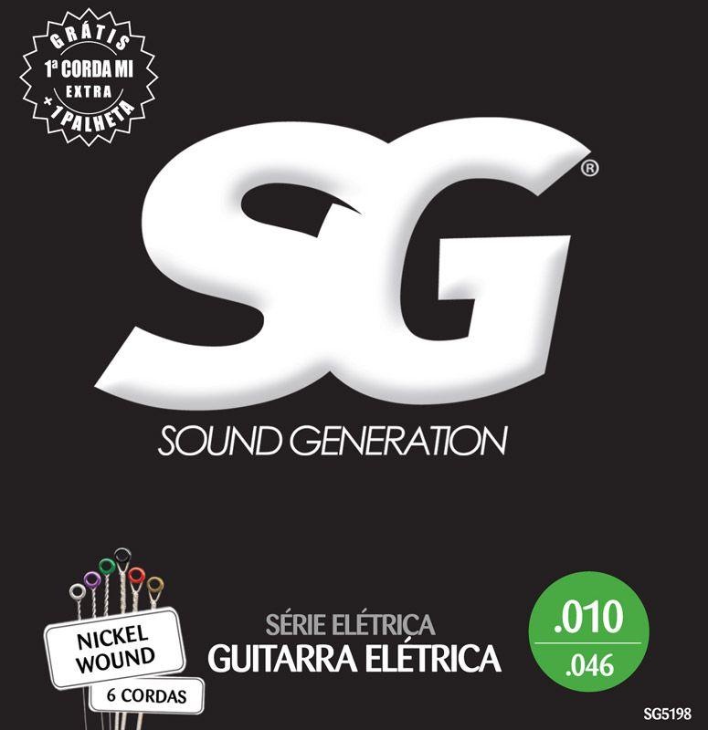Encordoamento SG p/Guitarra .010 Nickel