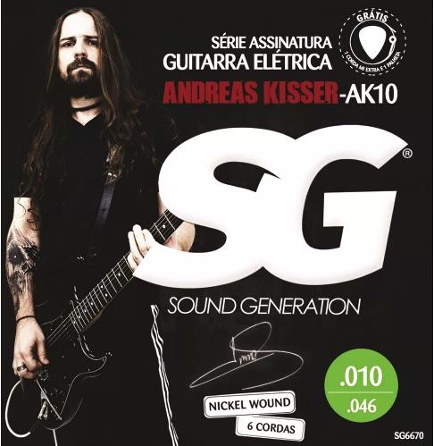 Encordoamento SG p/Guitarra Andreas Kisser .010 Nickel AK10