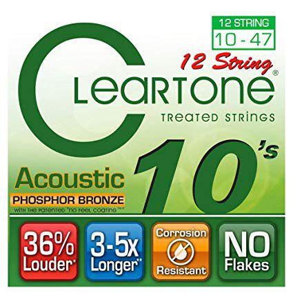 Encordoamento p/Violão 12 Cordas .010 Cleartone Phosphor Bronze