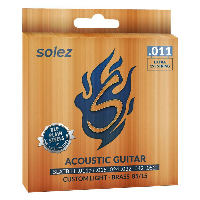 Encordoamento p/Violão Bronze SOLEZ  0.11 SLATB11