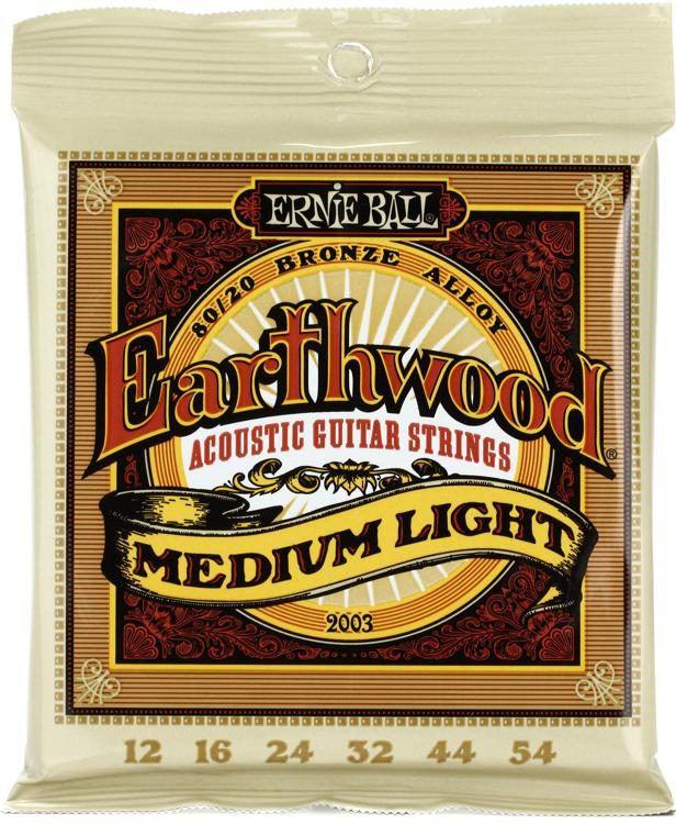 Encordoamento p/Violão Ernie Ball Earthwood Bronze 80/20 .012 - P02003