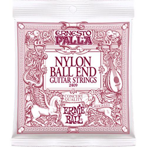Encordoamento p/Violão Nylon Ernie Ball Ernesto Palla Black/Gold MEDIA BALL-END P02409