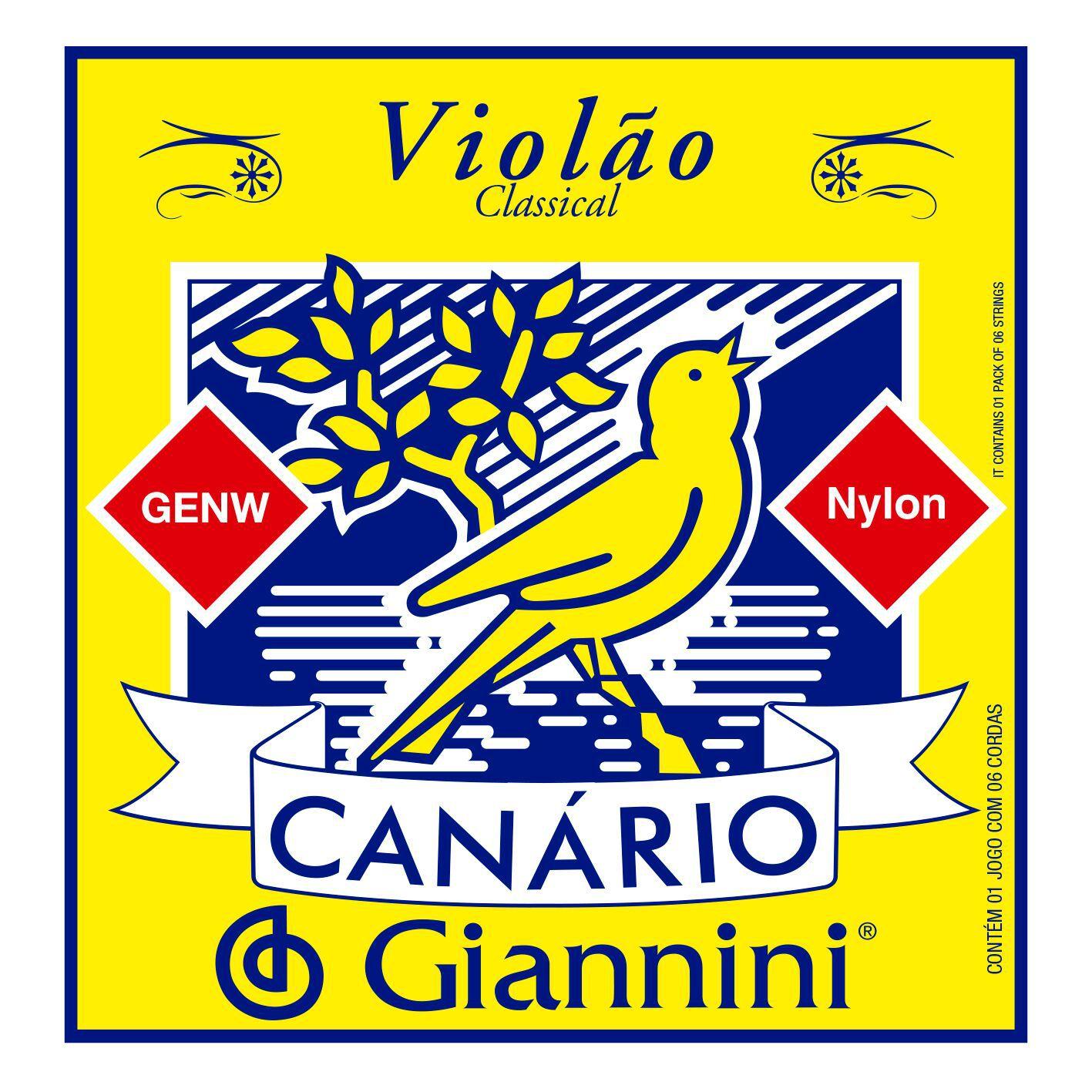 Encordoamento p/Violão Nylon Giannini Canário - GENW