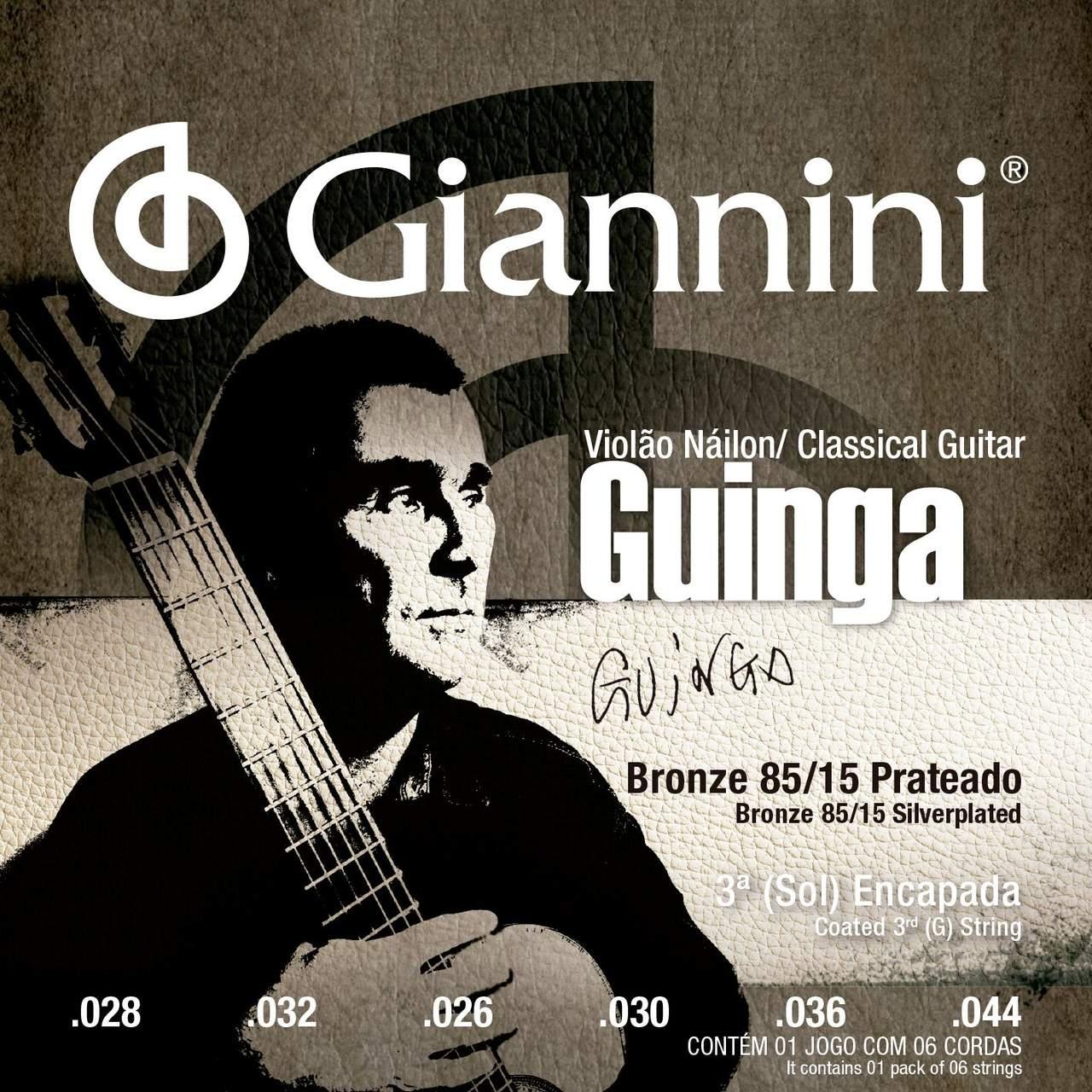 Encordoamento p/Violão Nylon Giannini Signature Guinga Tensão Alta - SSCGG