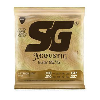Encordoamento p/ Violão SG 010 12C Aço Bronze 85 15