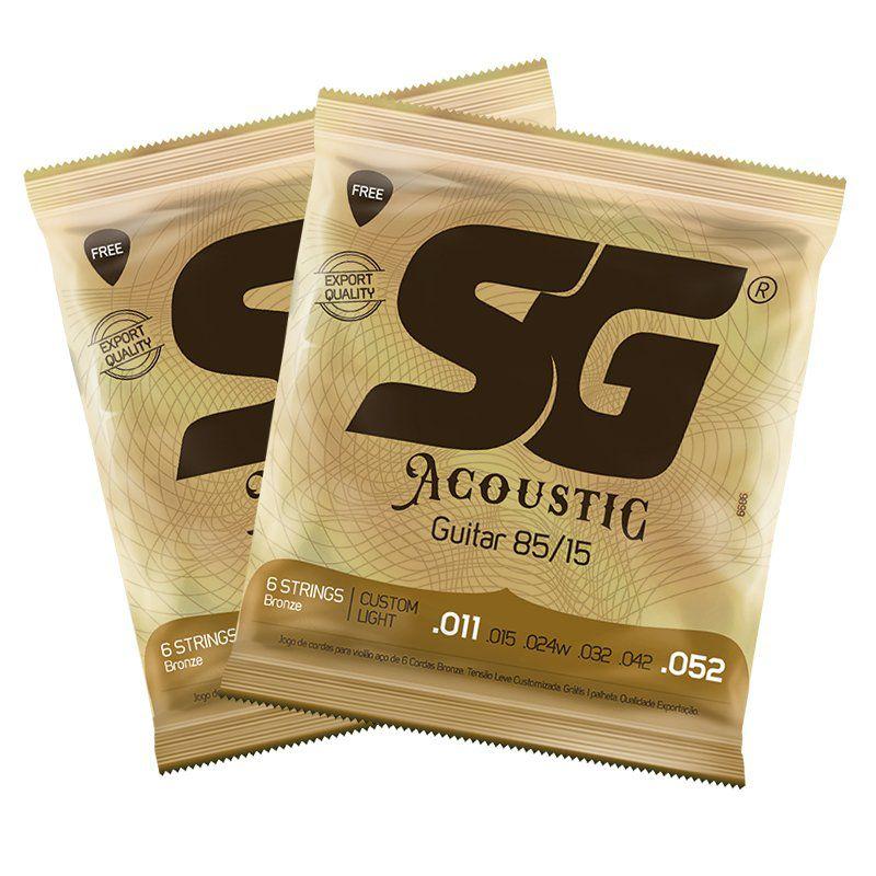 Encordoamento SG p/Violão .011 Aço Bronze 85/15
