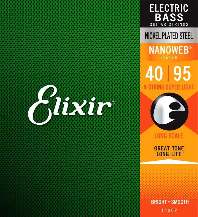 Encordoamento para Baixo 4c Elixir . 040 LIGHT/L.S  - Nanoweb