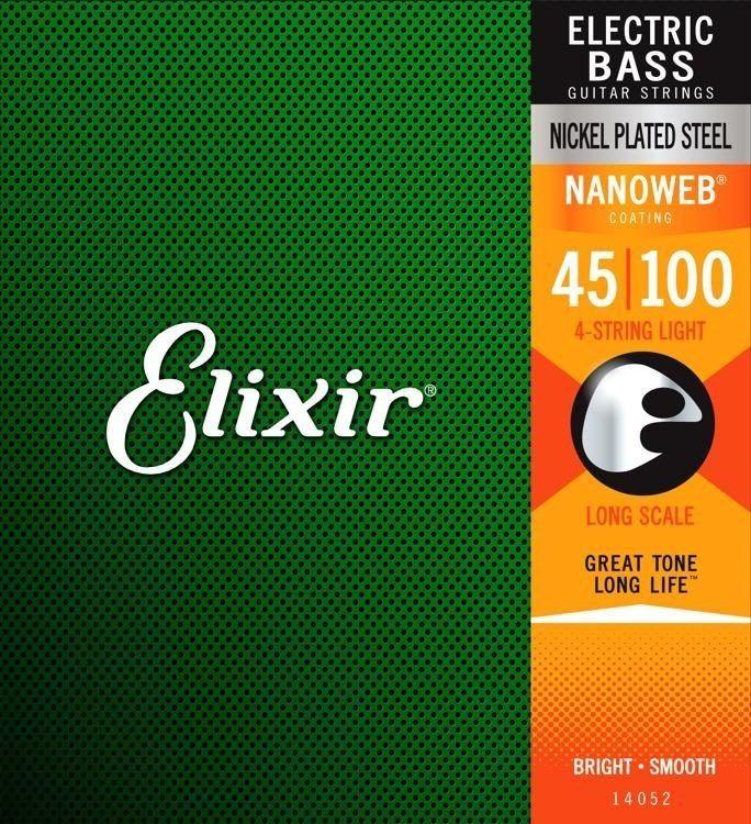 Encordoamento para Baixo 4c Elixir . 045 LIGHT/L.S  - Nanoweb