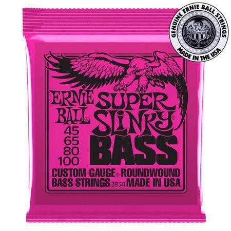 Encordoamento para Baixo 4c Ernie Ball 045- Super Slinky