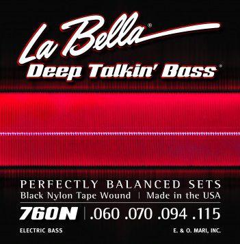Encordoamento para Baixo 4c Labella 0.60 Black Nylon 760N