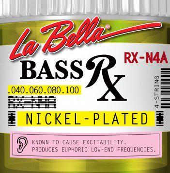 Encordoamento para Baixo 4c Labella 0.40 Nickel-Plate RX-N4A