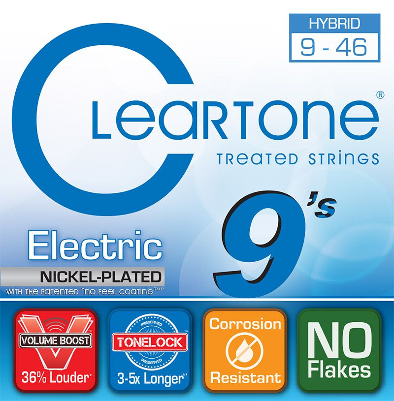 Encordoamento para Guitarra .009 Cleartone Nickel Plated Hibrida D-9-46