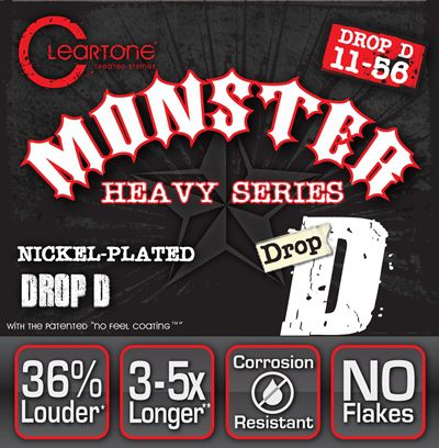 Encordoamento para Guitarra .011 Cleartone Monster Heavy Drop D# 11-56