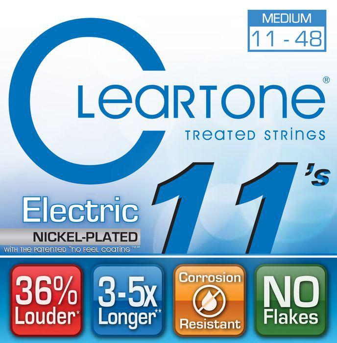 Encordoamento para Guitarra .011 Cleartone Nickel Plated Medium 9411