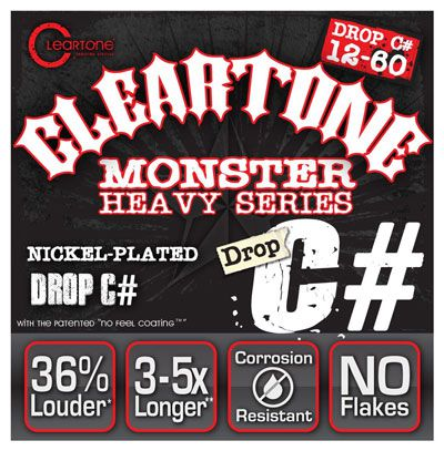 Encordoamento para Guitarra .012 Cleartone Monster Heavy Drop C# 12-60