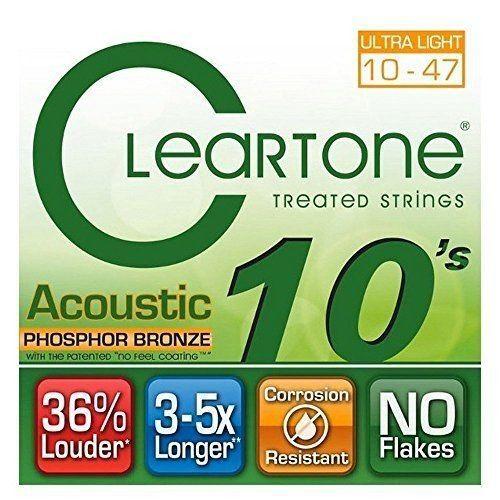 Encordoamento para Violão Aço .010 Cleartone Phosphor Bronze Extra Light