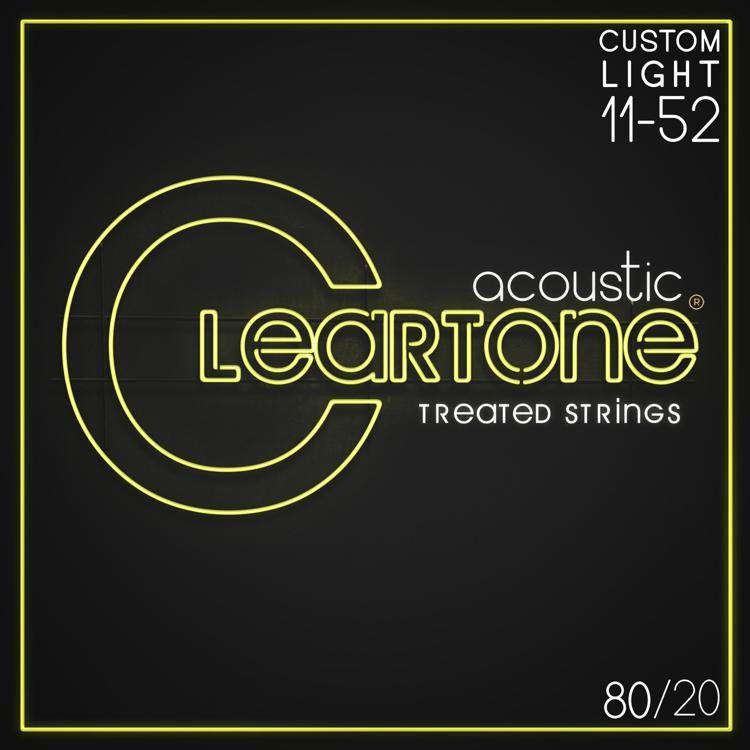 Encordoamento para Violão Aço .011 Cleartone Bronze Custom Light