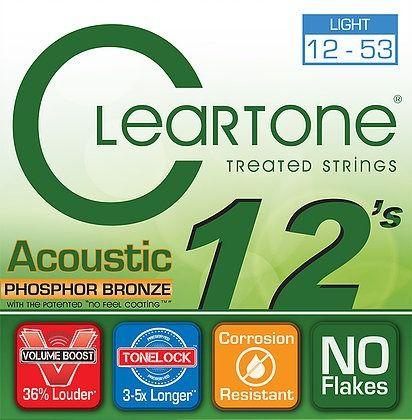 Encordoamento para Violão Aço .012 Cleartone Phosphor Bronze Light 12-53
