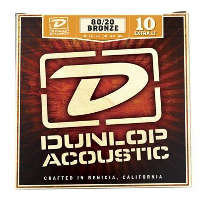 Encordoamento para Violão Aço Bronze Dunlop 0.10 Extra/Leve 8020