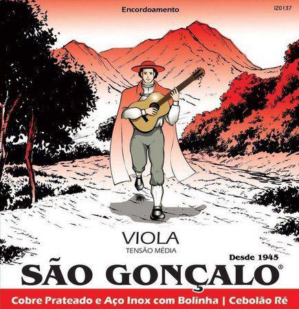 Encordoamento São Gonçalo p/Viola Caipira Inox c/Bolinha 10c