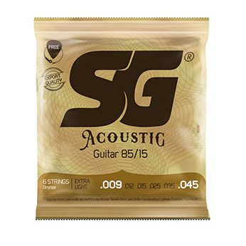 Encordoamento SG p/Violão 009 Aço Bronze 85 15