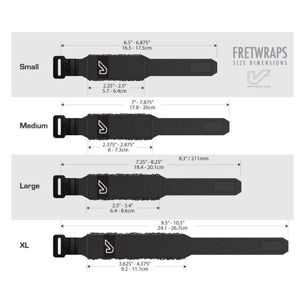 FRETWRAP GRUVGEAR INDIVIDUAL PRETO (grande) FW-1PK-LG