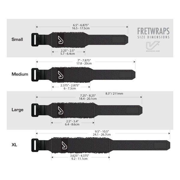 FRETWRAP GRUVGEAR INDIVIDUAL PRETO (medio) FW-1PK-MD