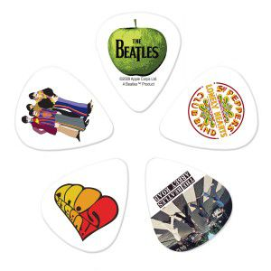 Kit de Palhetas Colecionáveis D'addario THE BEATLES ALBUMS - LIGHT 1CWH2-10B3
