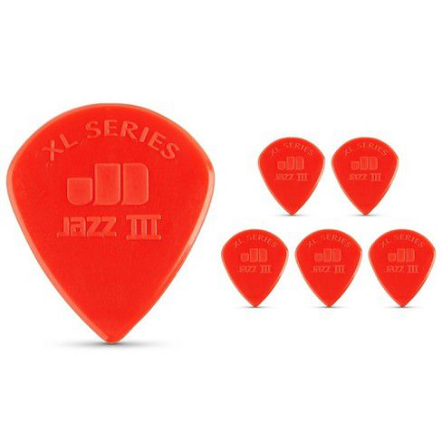 Pack 6 Palheta Dunlop JAZZ III Vermelha