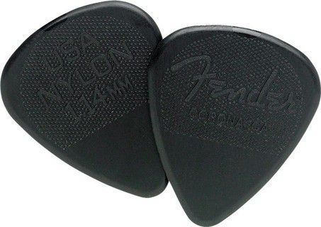 Pack c/12 Palheta Fender Nylon 114MM Black