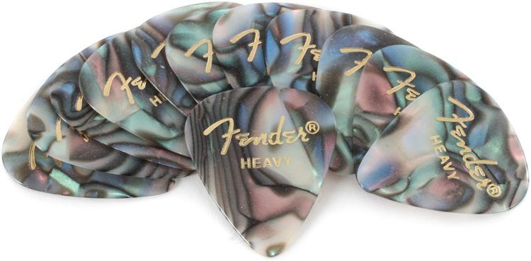 Pack c/12 Palheta Fender Tradicional Abalone - HEAVY