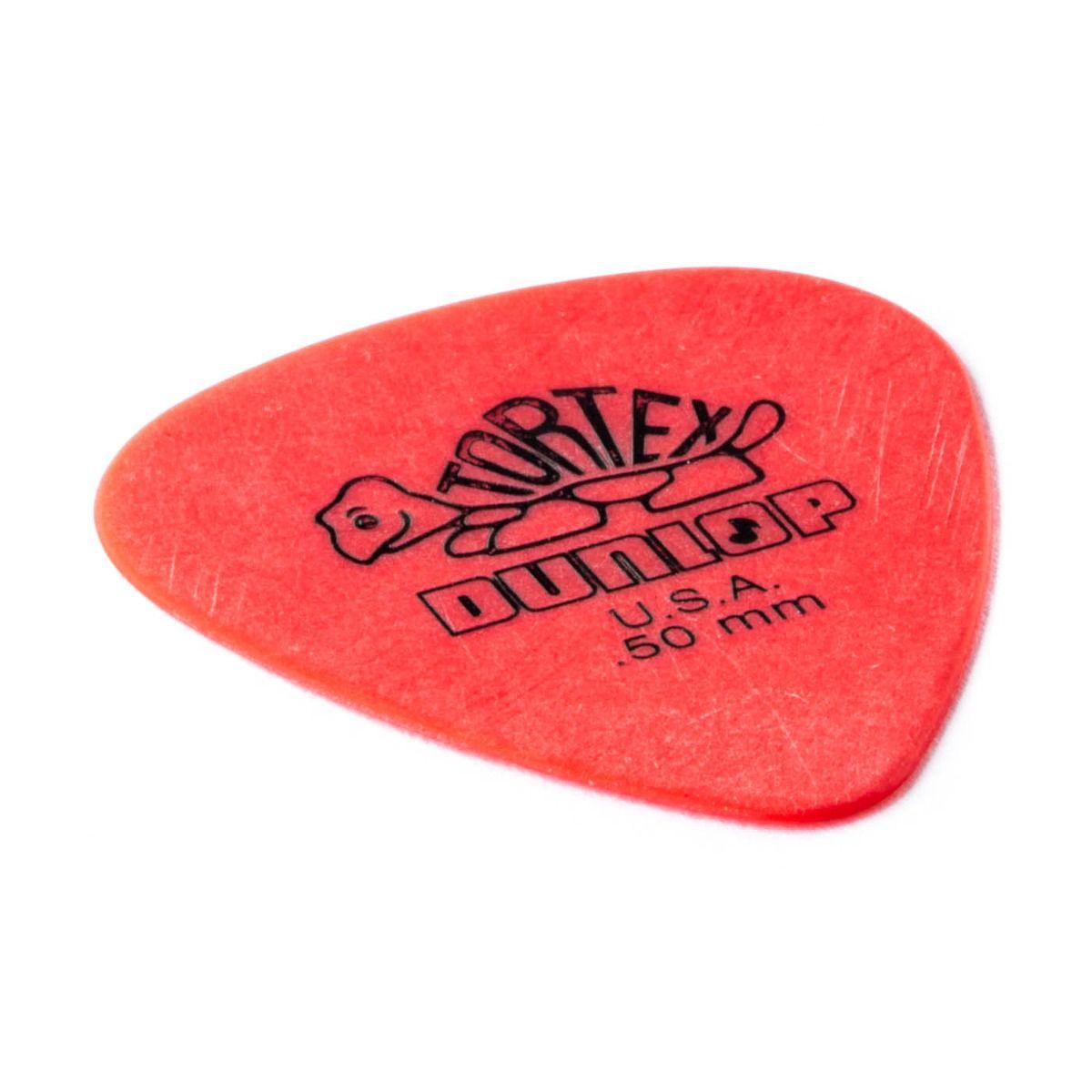 Palheta Dunlop TORTEX 0,50MM - Vermelha