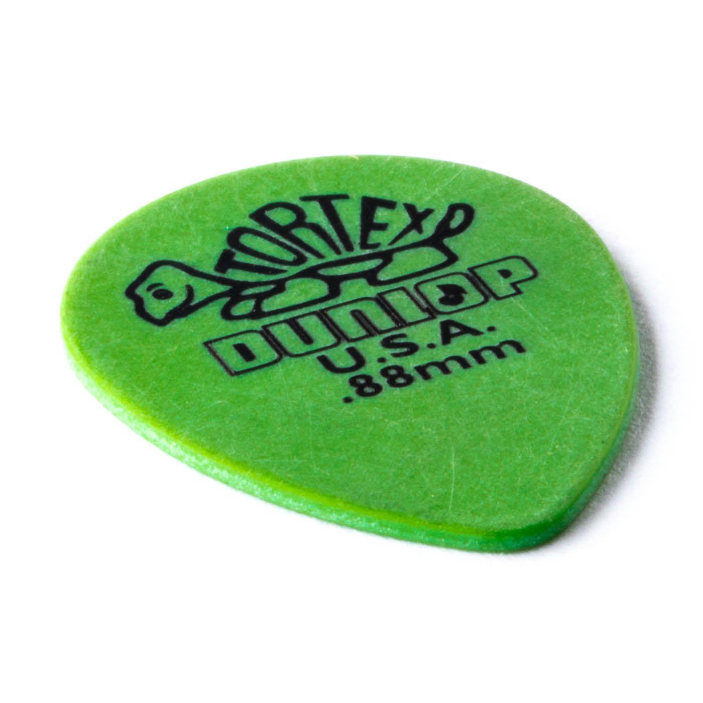 Palheta Dunlop TORTEX SMALL TEARDROP 0.88MM - VERDE