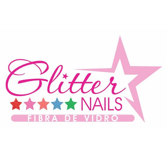 banner glitter nails