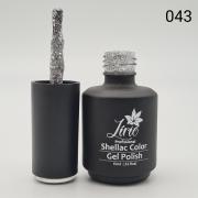 Esmalte em Gel Lírio - Com Glitter Flocado Prata