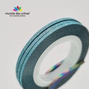 Fitilho com Glitter Azul - M