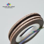 Fitilho com Glitter Cobre Claro - M