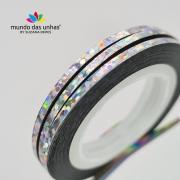 Fitilho com Glitter Prata Furta-cor - M