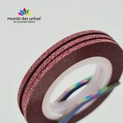 Fitilho com Glitter Vermelho - M