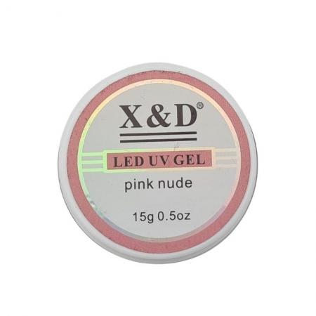 GEL LED UV PINK NUDE X&D - 15G