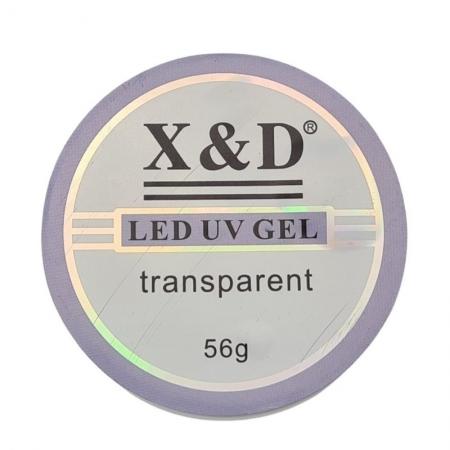 GEL LED UV TRANSPARENTE CLEAR X&D - 56G