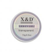Gel LED UV Transparente Clear X&D - 15g