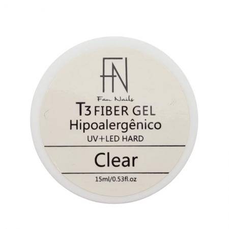 GEL T3 CLEAR FAN NAILS - 15ML