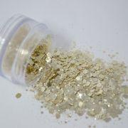 Glitter Dourado Claro Flocado - Glitter Blendz